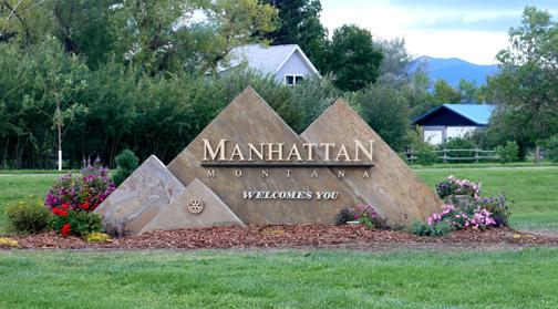City Of Manhattan Entry Sign